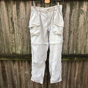 COLUMBIA Khaki Hiking Convertible Pants Shorts